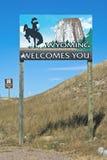 Wyoming-Rand mit Kolorado lizenzfreies stockbild