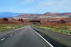 Wyoming road in prairie Stock Image