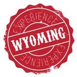 Wyoming rubber stamp Stock Photo