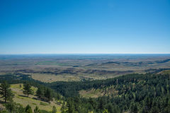 Wyoming Scenic Overlook. Beautiful view from atop a mountain in Wyoming Stock Photo