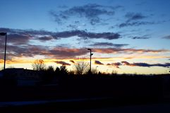 Wyoming solnedgång Arkivfoto