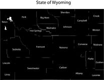 Wyoming state Royalty Free Stock Photo