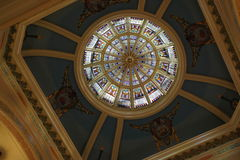 Wyoming State Capitol Dome. A view looking up 146 feet from the rotunda on the main floor of the State Capitol in Cheyenne. Construction of the Renaissance Stock Photos