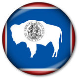 Wyoming State Flag Button Royalty Free Stock Images