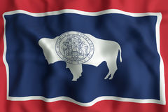 Wyoming State flag Royalty Free Stock Image