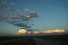 Wyoming sunset clouds Stock Photography