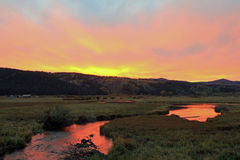 Wyoming sunset. Royalty Free Stock Image