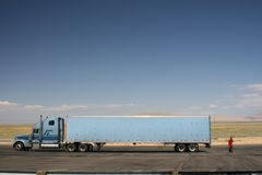 Wyoming Truck Stop Royalty Free Stock Images