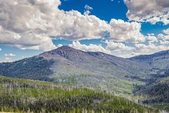 Wyoming Valley. Valley with clouds in Wyoming stock photo