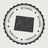 Wyoming vector sticker. Stock Image