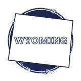 Wyoming vektoröversikt Royaltyfria Bilder