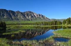 Wyoming Vista a lo largo del jefe Joseph Scenic Byway Foto de archivo libre de regalías