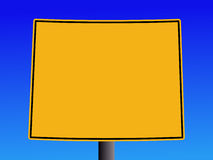 Wyoming warning sign Royalty Free Stock Images