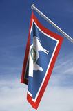 Wyoming-Zustandmarkierungsfahne Stockfotos