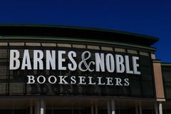 Barnes & Noble Booksellers Sign. Wyomissing, PA, USA - June 14, 2018: Barnes & Noble is a large bookseller with over 630 retail stores in all 50 U.S. states stock photos