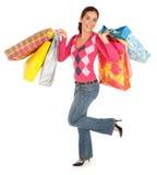 wypad do sklepów kobieta Obrazy Royalty Free