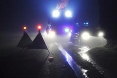 Wypadek na drodze Zdjęcie Royalty Free