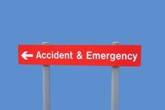 wypadek nagłego wypadku znak Fotografia Stock