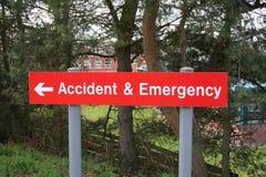 wypadek nagłego wypadku znak Zdjęcia Royalty Free