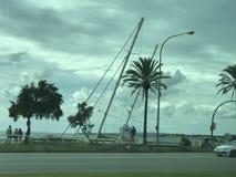 Wypadek przy Palmą de Mallorca zdjęcie royalty free