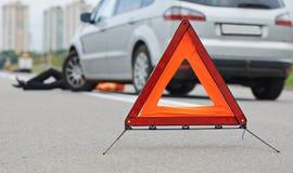 Wypadek. pukający puszka pieszy Zdjęcie Royalty Free
