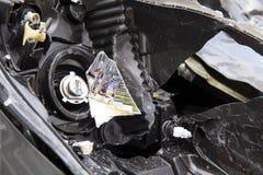 Wypadek samochodowy Obrazy Royalty Free