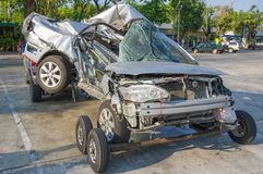 Wypadek samochodowy Zdjęcie Royalty Free