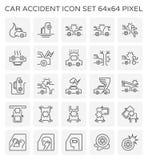 Wypadek Samochodowy ikona Ilustracja Wektor