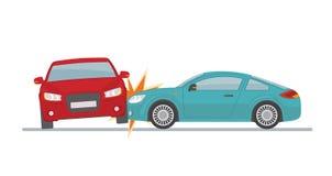 Wypadek samochodowy na białym tle Fotografia Royalty Free