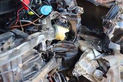 Wypadek samochodowy na drodze fotografia royalty free