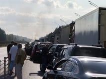 Wypadek samochodowy naprzód zdjęcia stock