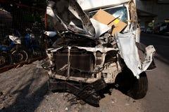 Wypadek samochodowy w Azja, Tajlandia obraz stock