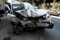 Wypadek samochodowy w Azja, Tajlandia obrazy stock
