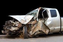 Wypadek samochodowy wyburzający fotografia stock
