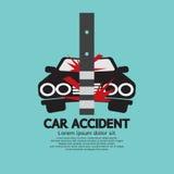 Wypadek Samochodowy Z słupem Zdjęcia Stock