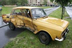 wypadek samochodu obraz royalty free