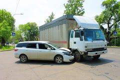 Wypadek uliczny 09.06.13 fotografia stock