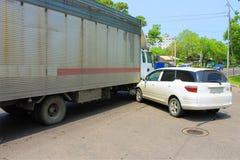 Wypadek uliczny 09.06.13 Zdjęcie Stock
