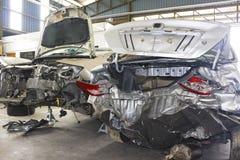wypadek uszkadzający motorcars obrazy stock