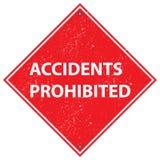 Wypadki zabraniający ilustracji