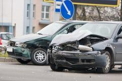 wypadkowa kraksa samochodowa Obrazy Stock