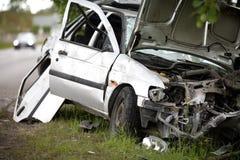 wypadkowa kraksa samochodowa Zdjęcia Stock