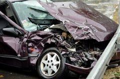 wypadkowa kraksy samochodowej autostrady droga Zdjęcie Royalty Free