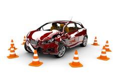 wypadkowa samochodowa czerwień ilustracji