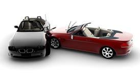 wypadkowi samochody ilustracja wektor
