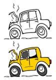 wypadkowy samochód ilustracji
