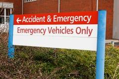 Wypadku i nagłego wypadku znak Obrazy Royalty Free