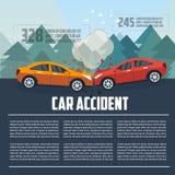 Wypadku samochodowego infographics Zdjęcia Royalty Free