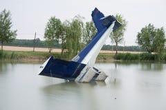 wypadku samolot obraz stock