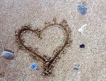 wypatroszone serce piasku obrazy stock
